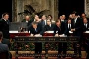 Assinatura do tratado de Adesão às Comunidades Europeias