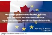 Debate público CETA em Leça da Palmeira